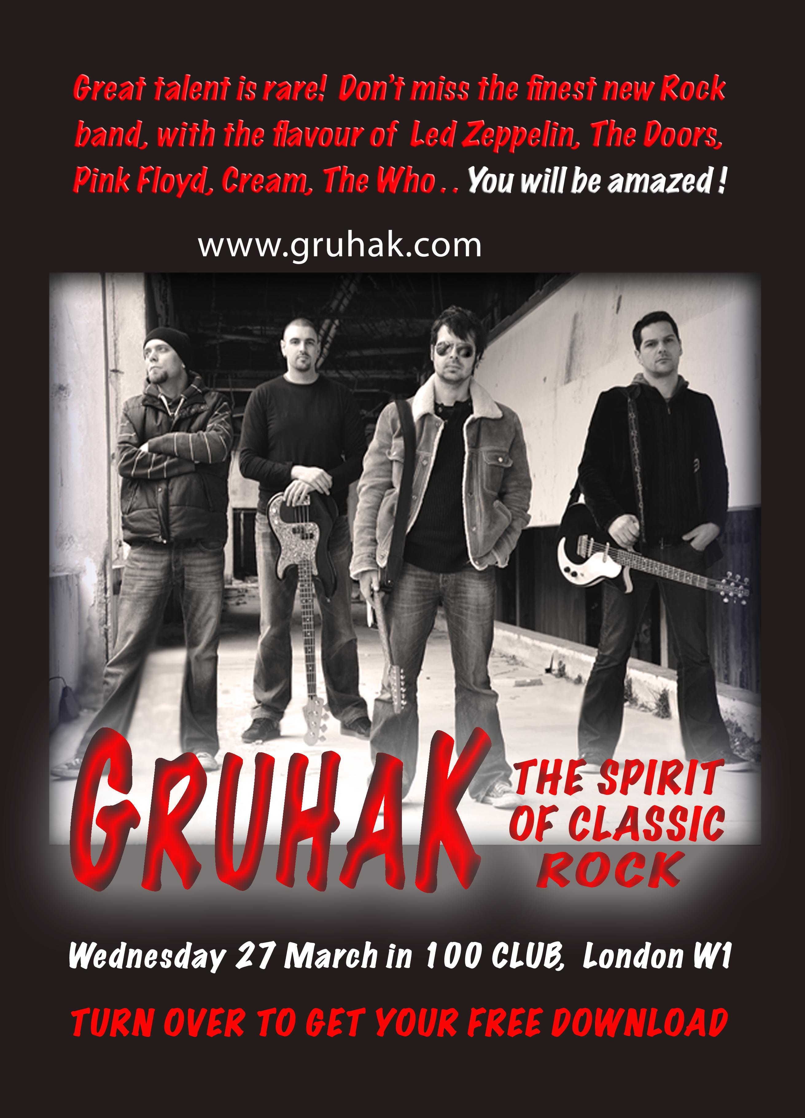 Gruhak at the 100 Club in London