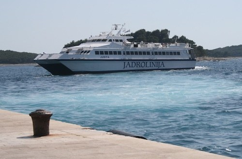 Ferries in Croatia - Jadrolinija catamaran