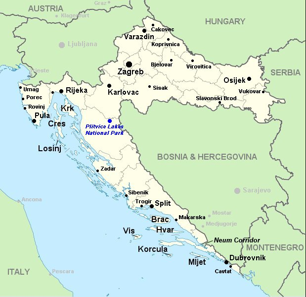 Map of Croatia - Visit Croatia