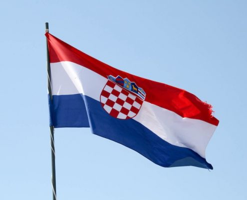 Dubrovnik Old Town Photos - Croatian Flag
