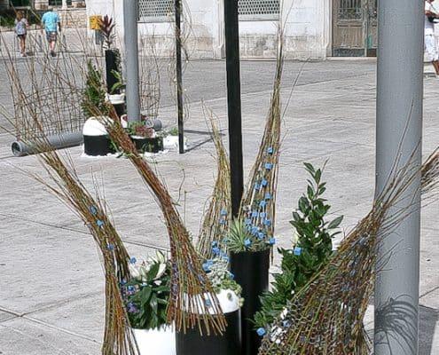 Split Photos - Flower exhibit