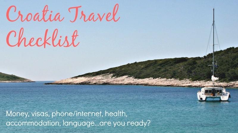 Croatia Travel Checklist
