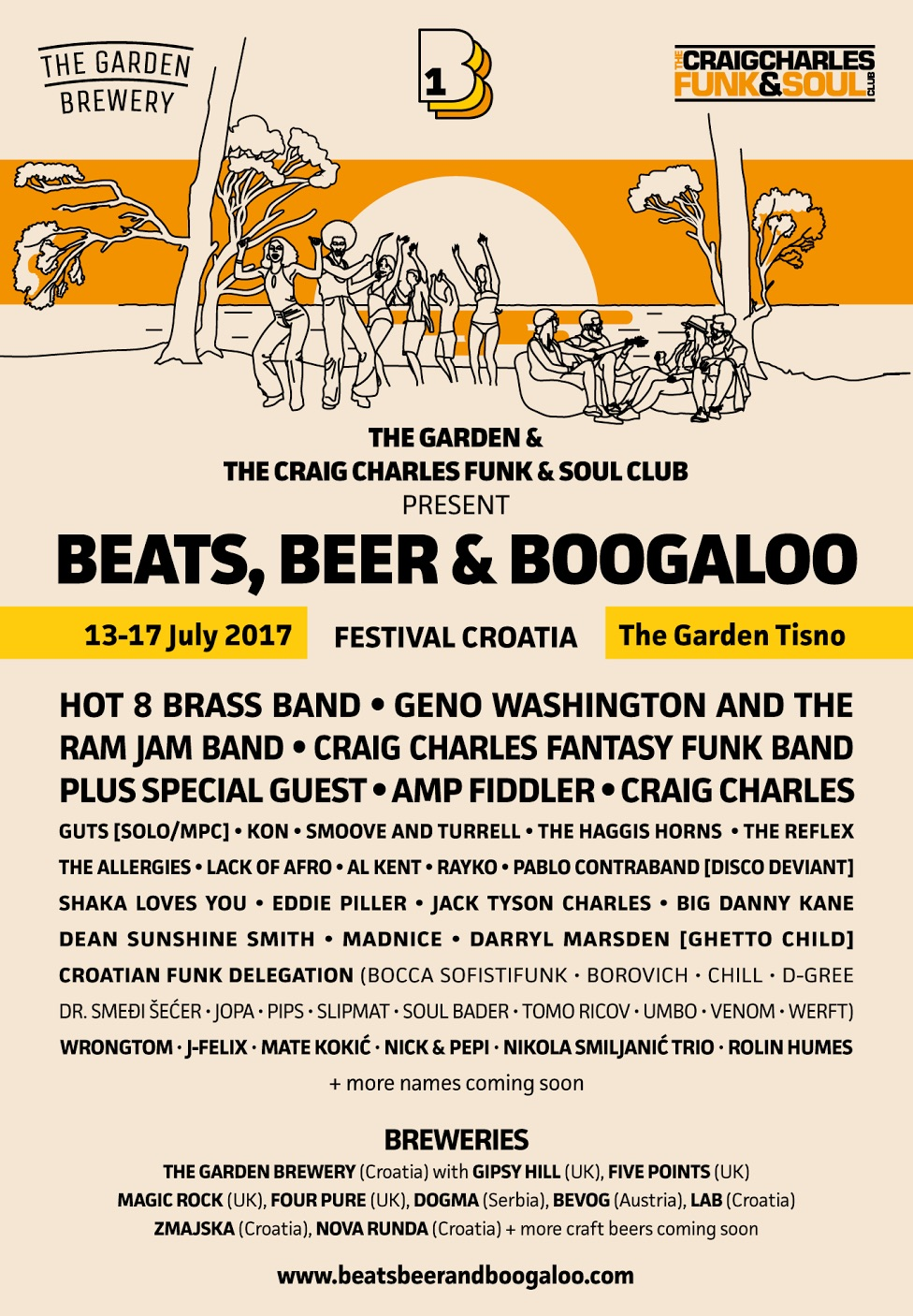 Beats Beer and Boogaloo Croatia - artists and breweries