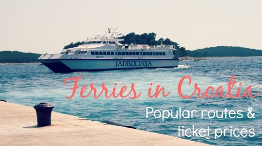 Ferries in Croatia - Timetables, ticket prices, online