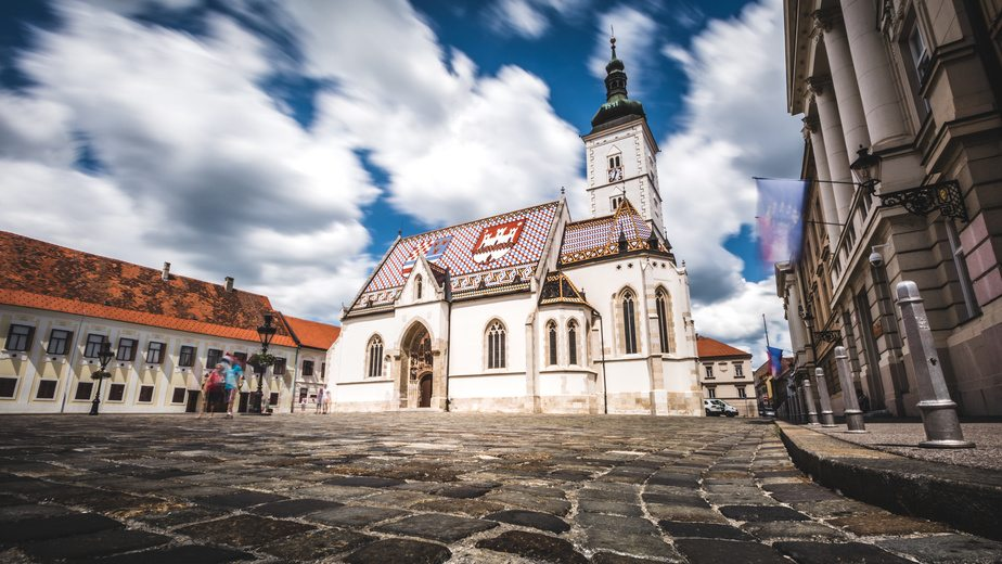 History of Zagreb  - St Mark's Church in Zagreb