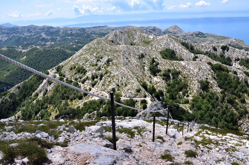 View from Sveti Jure, Mount Biokovo