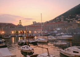 Dubrovnik Photos - Old Town Harbour at Sunset