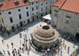 Dubrovnik Photos - Onofrio's Fountain from above
