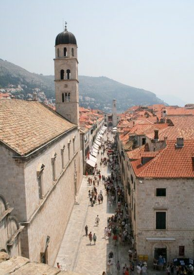 Dubrovnik Photos - Stradun from above