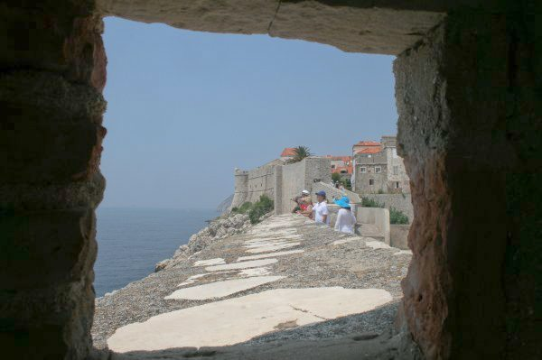 Dubrovnik Photos - Old Town Walls Visitors