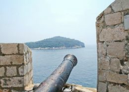 Dubrovnik Photos - Cannon and Lokrum