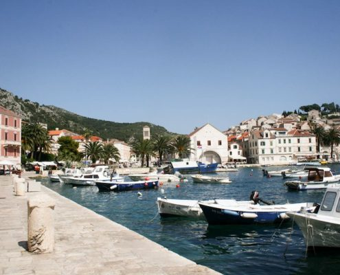 Photos of Hvar - View over the marina