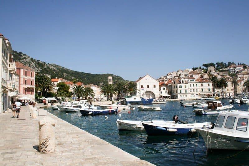 Photos of Hvar - View over the marina