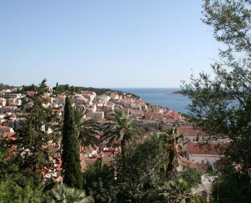 Photos of Hvar - View over Hvar Town's rooftops