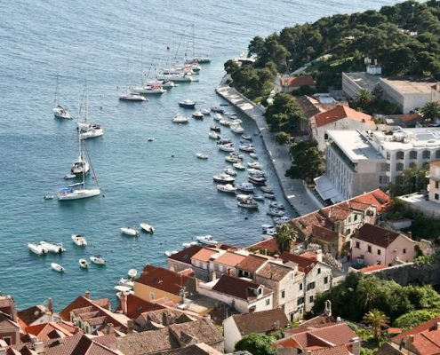 Photos of Hvar - Hvar Town harbour from above