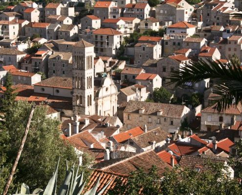 Photos of Hvar - St Stephen's Cathedral from above