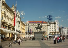 Images of Croatia 2 - Jelacic square in Zagreb
