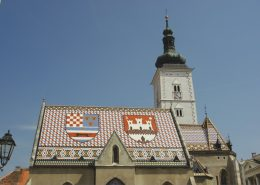 Images of Croatia 2 - Zagreb's St Mark's Church