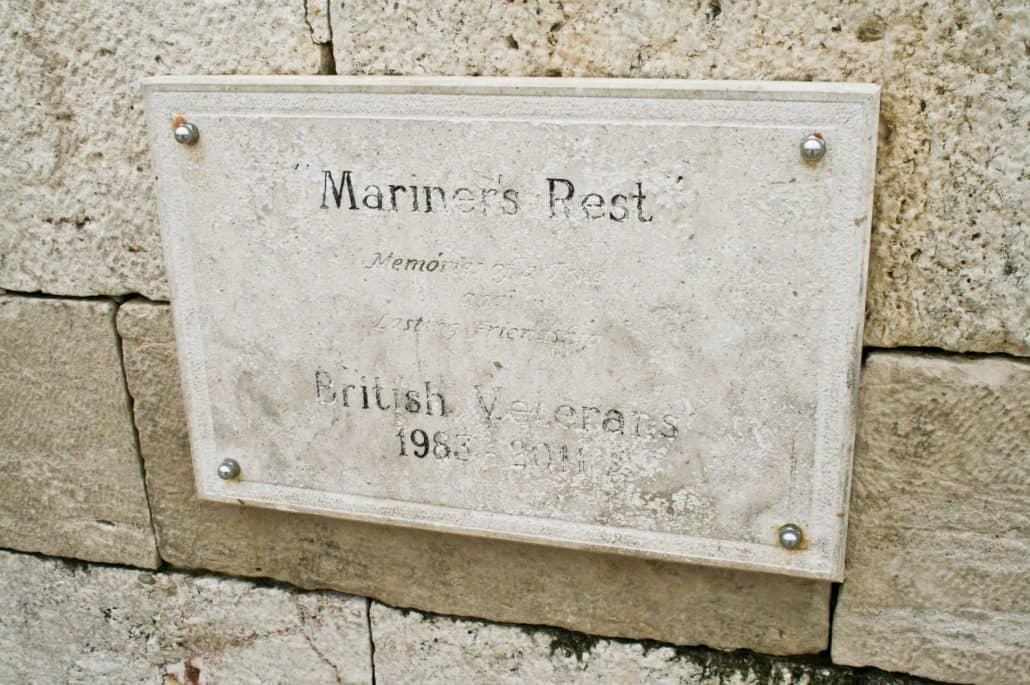 Photos of Vis - British veterans plaque