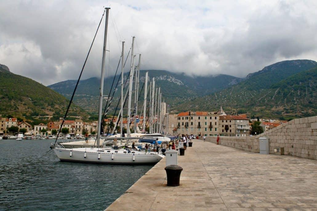 Photos of Vis - Komiza Town harbour