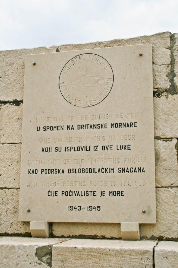 Photos of Vis - Komiza WWII plaque