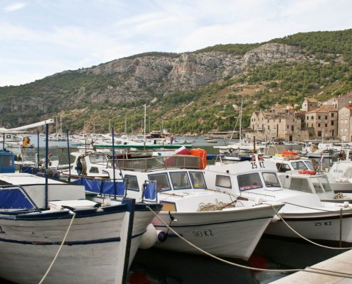 Photos of Vis - Boats in Komiza harbour