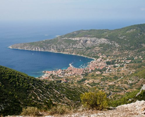 Photos of Vis - Komiza from above