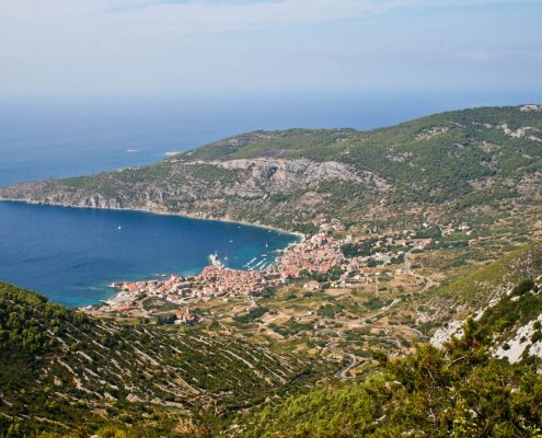 Photos of Vis - View to Komiza
