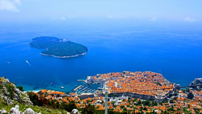 Photos of the Elafiti Islands - Dubrovnik Old town - view from top of cable car