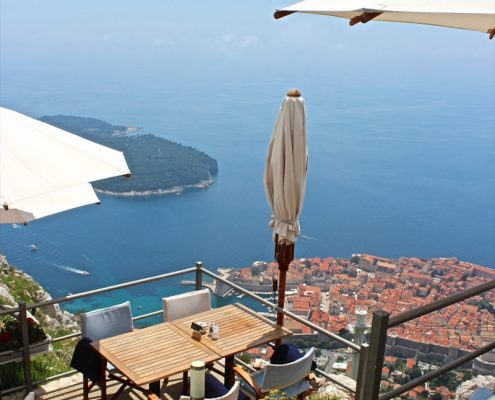 Photos of the Elafiti Islands - Dubrovnik Old town - top of cable car - Panorama restaurant - view