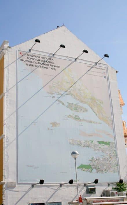 Photos of Split - Giant map