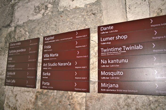 Photos of Split - Signs