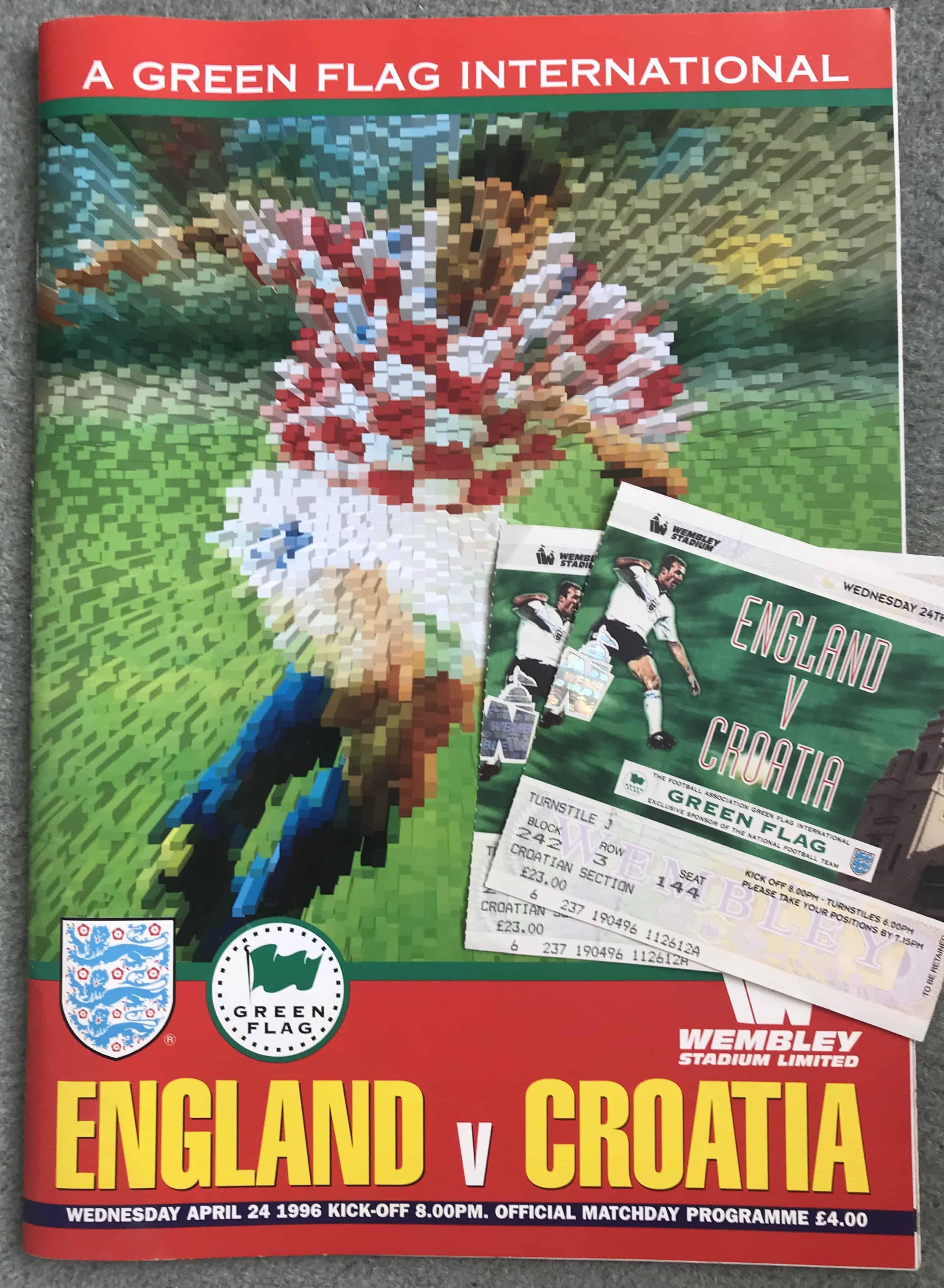 England v Croatia 1996