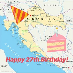 England and Croatia - Happy Birthday Croatia