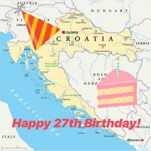 England and Croatia - Happy Birthday Croatia