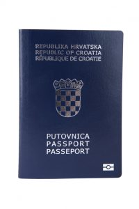 England and Croatia - Croatian passport