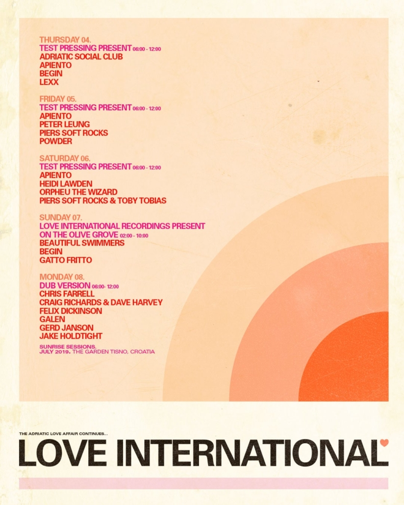 Love International Sunrise Sessions