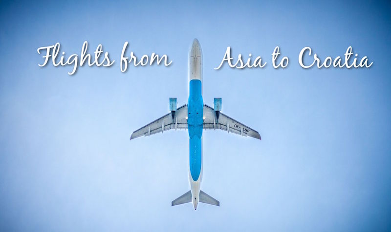 Flights from Asia to Croatia