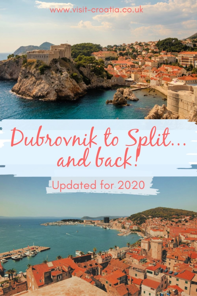 Dubrovnik to Split - Updated for 2020