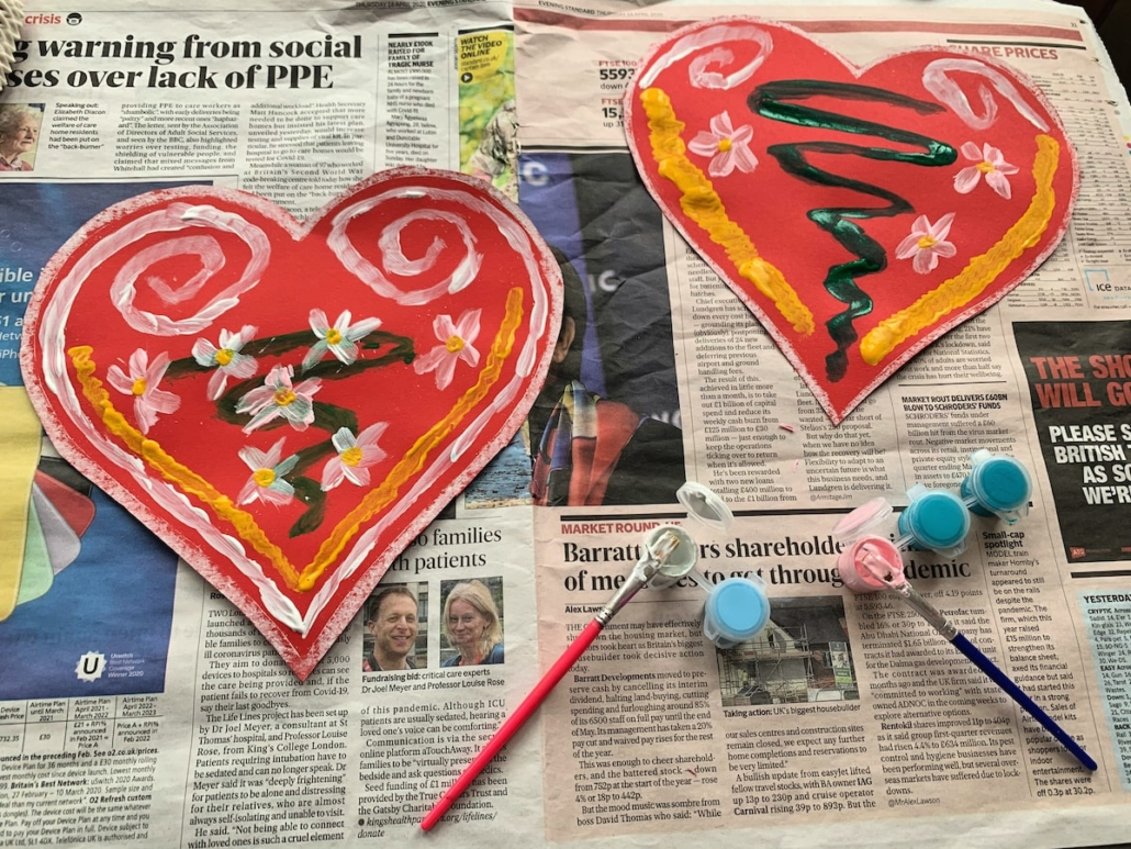 Painting Paper Licitar Hearts