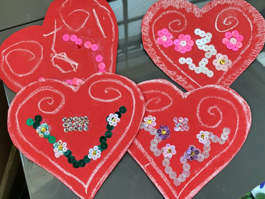 Licitar Hearts with sequins
