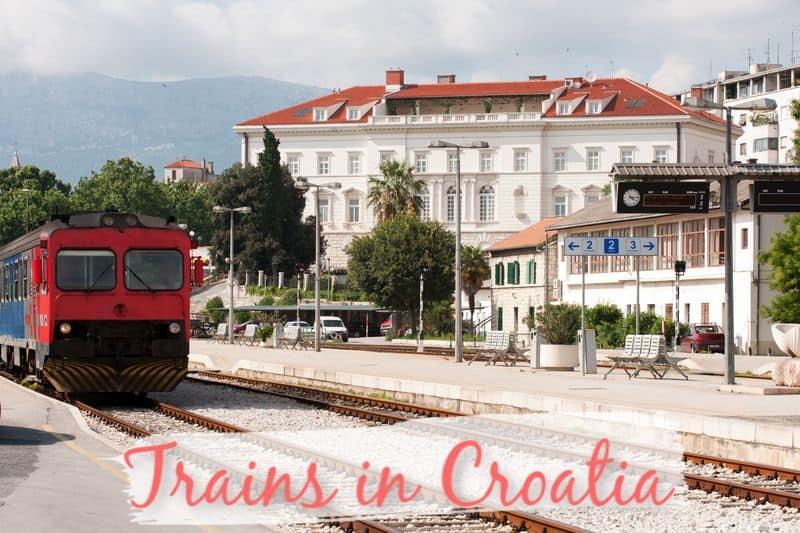 Trains in Croatia