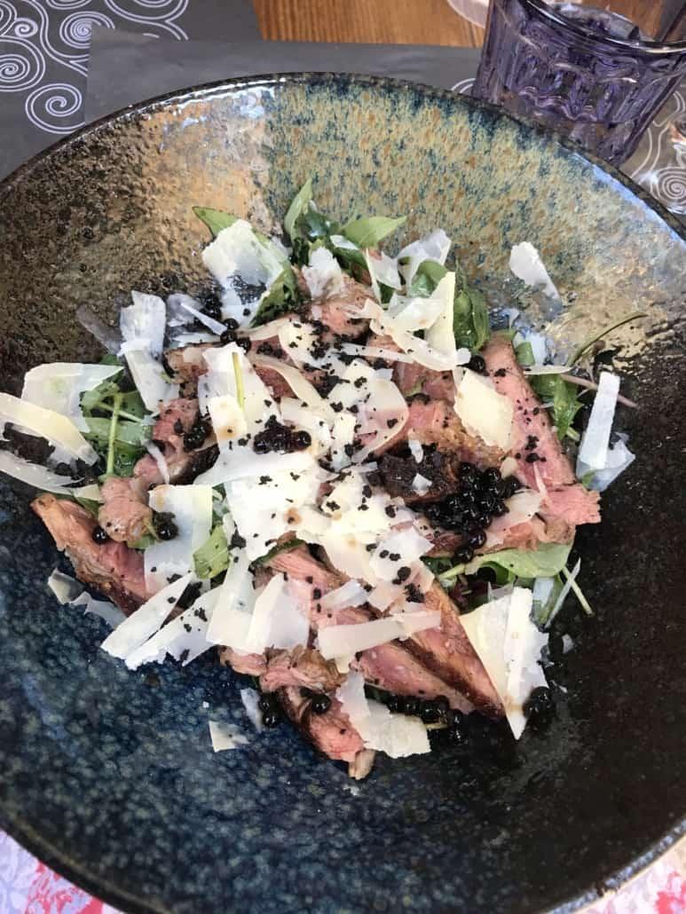 A salad at Mazzgoon, Split