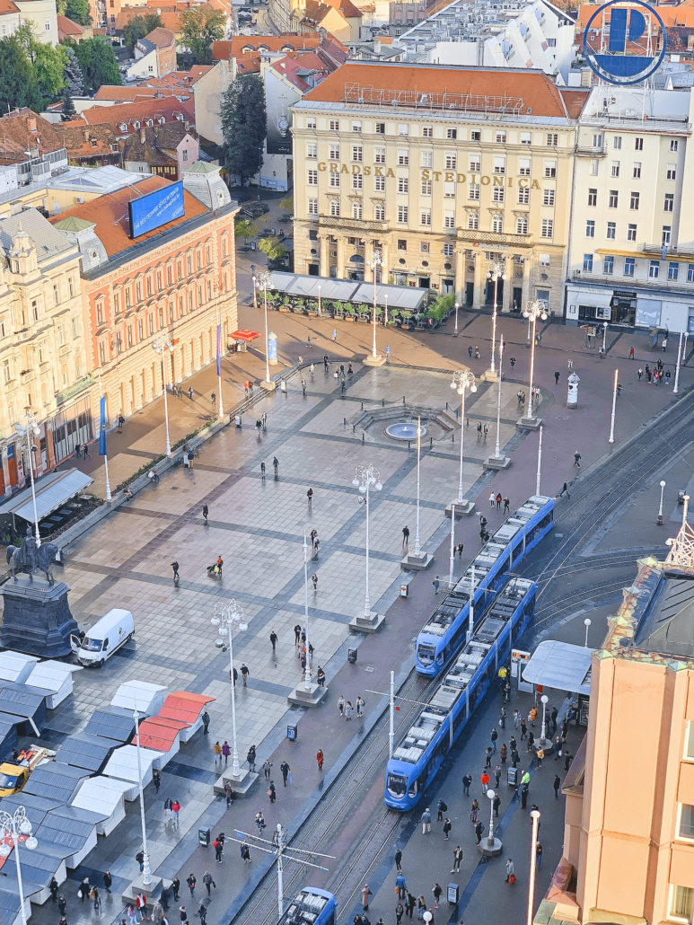 Zagreb Photos - Ban Jelacic Square from above