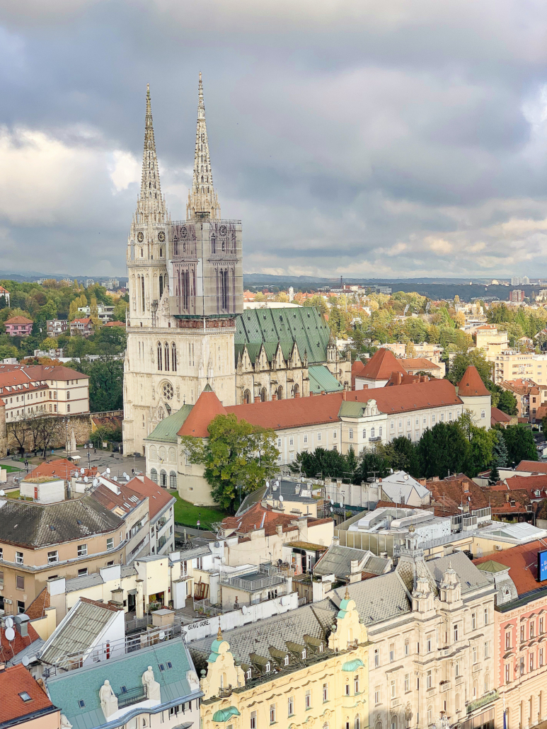 Zagreb Photos - Zagreb Cathedral from above