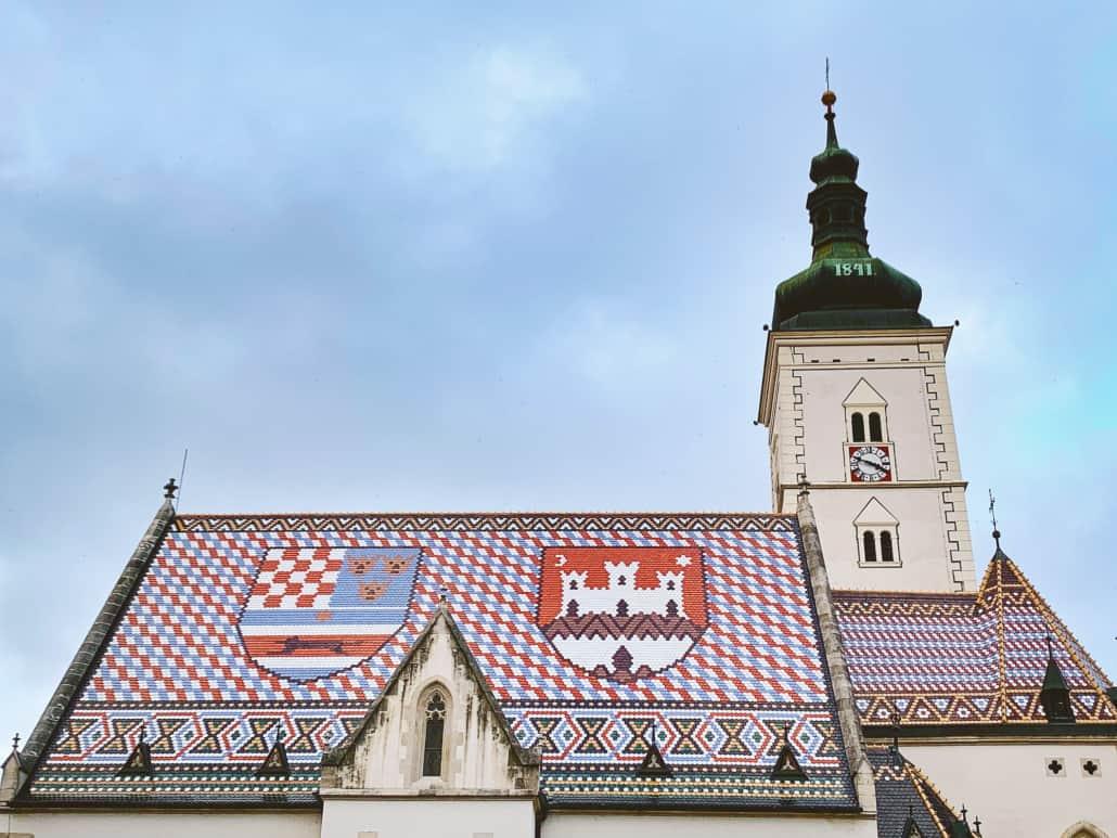 Zagreb Photos - St Mark's Church Roof