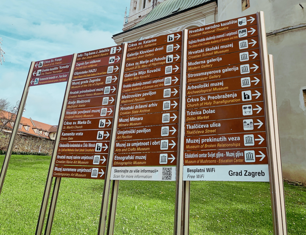 Zagreb Photos - Sightseeing signs