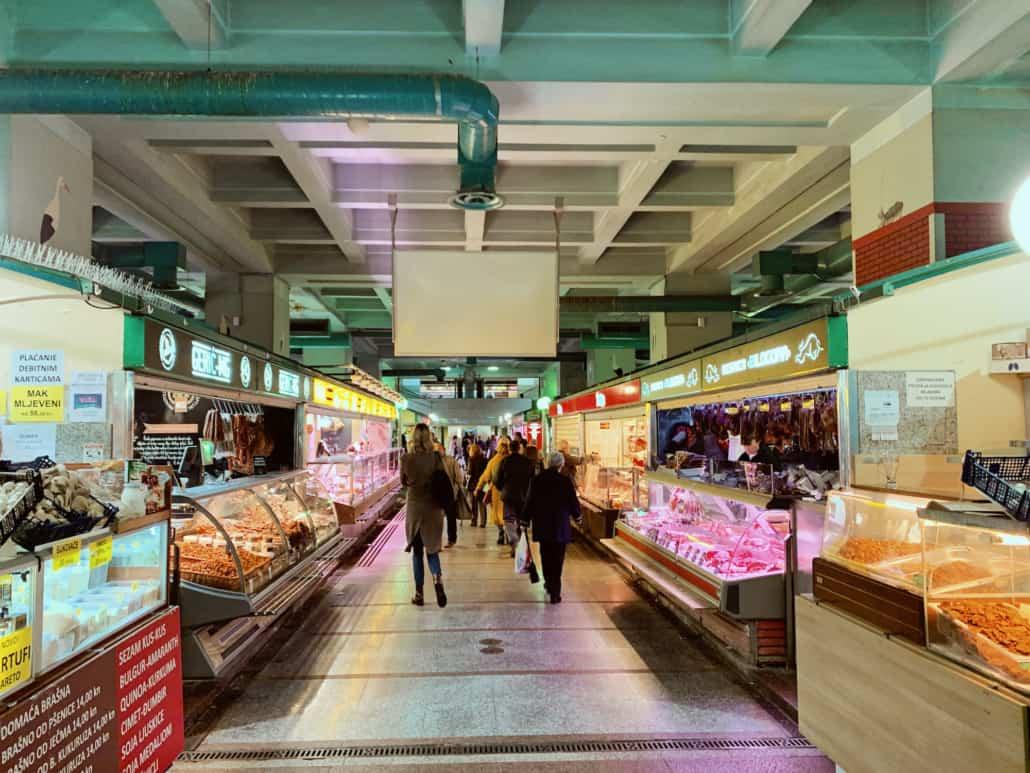 Zagreb Photos - Indoor of Dolac Market