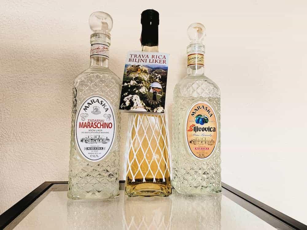 Croatian liqueurs and brandies