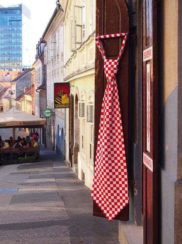 A tie shop in Croatia